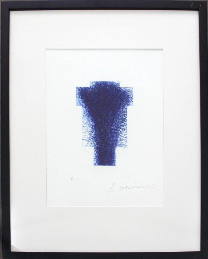 "Arnulf Rainer - ""Blaues Kreuz"""