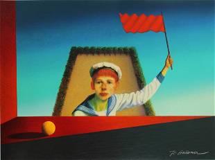 "Rudolf Hausner - ""Vor dem Fenster"""
