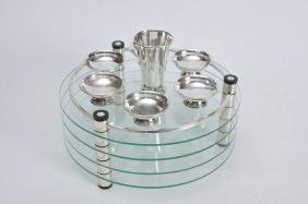 Modern Passover Plate by Ludwig Wolpert. Made from