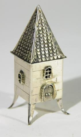 Silver Besamim tower, 1950's, by the Israeli artisan S.