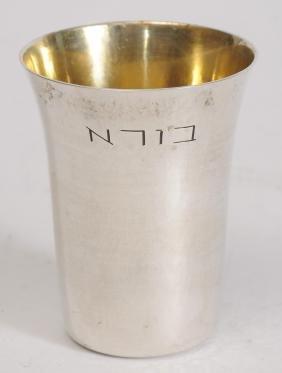 Silver Kiddush Cup Ludwig Wolper Berlin 1931