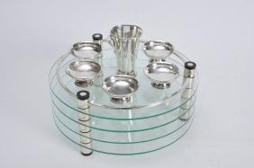 Modern Passover Glass & SilverPlate by Ludwig Wolpert