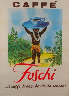 """French Poster """"Caffe Foschi"""" by Rusa, 1930's"""