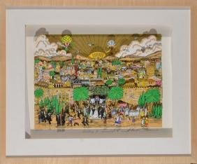 "Mono-print 3D ""Jerusalem wedding"" of Charles Fazzino"