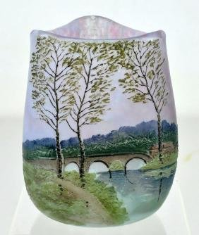 Signed Legras French Cameo Art Glass Vase