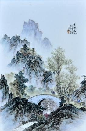 Chinese Porcelain Hand Painted Plaque