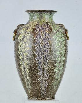 Japanese Satsuma Moriage Vase 19th/20th C.