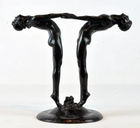 "Bronze Figure ""Two Dancers"" Maude Sherwood Jewett"