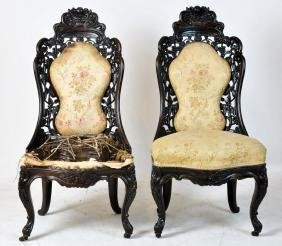 Pr. JH Belter 19th C. Rosewood Side Chairs