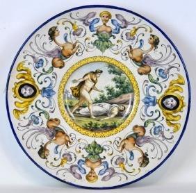 19th C Italian Renaissance Style Porcelain Charger