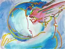 "Peter Max ""I Love the World"", Serigraph COA"