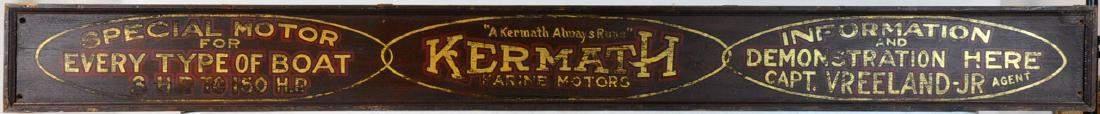 Kermath Marine Engine Co. Vintage Wood Sign