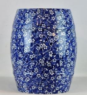 Minton Porcelain Blue & White Garden Seat