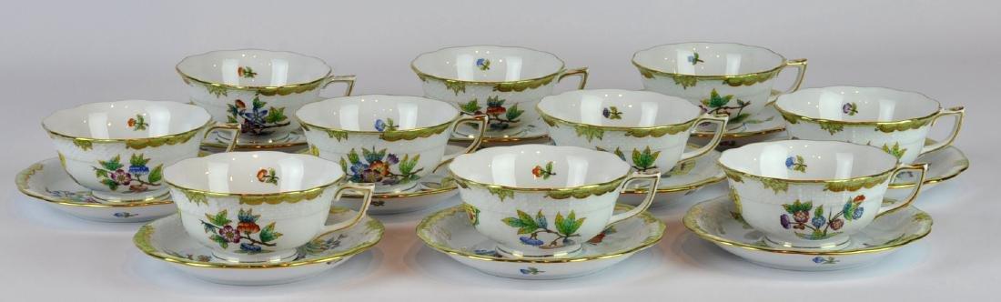 Herend Queen Victoria Cups & Saucers #740