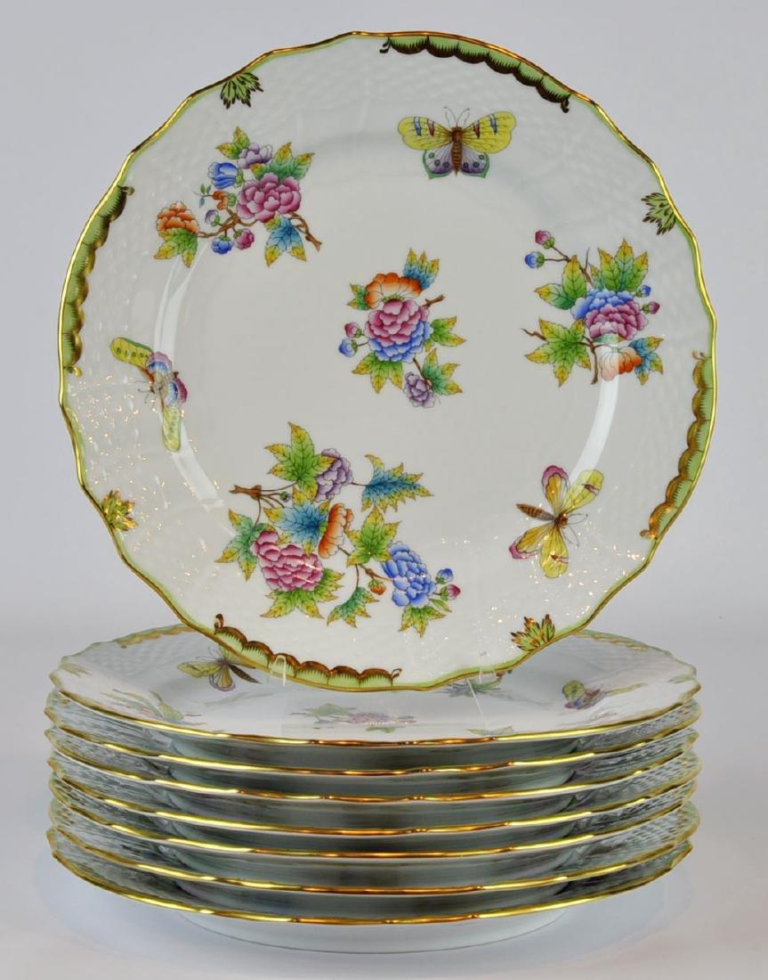 Herend Queen Victoria Service Plates #1524