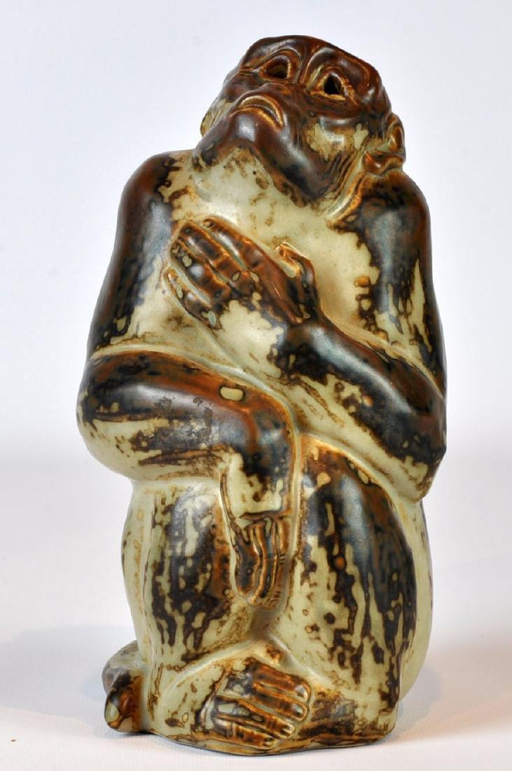 Royal Copenhagen Porcelain Monkey by Knud Kyhn