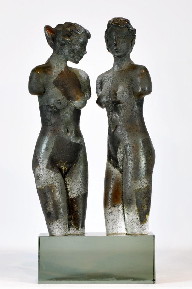 Large Loredano Rosin Italian Art Glass Sculpture