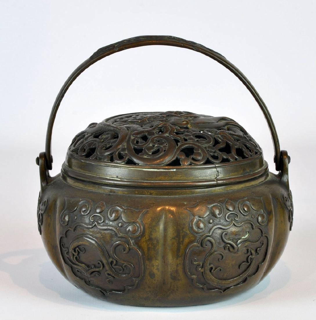 18/19th Ct. Chinese Bronze Censer with Handle