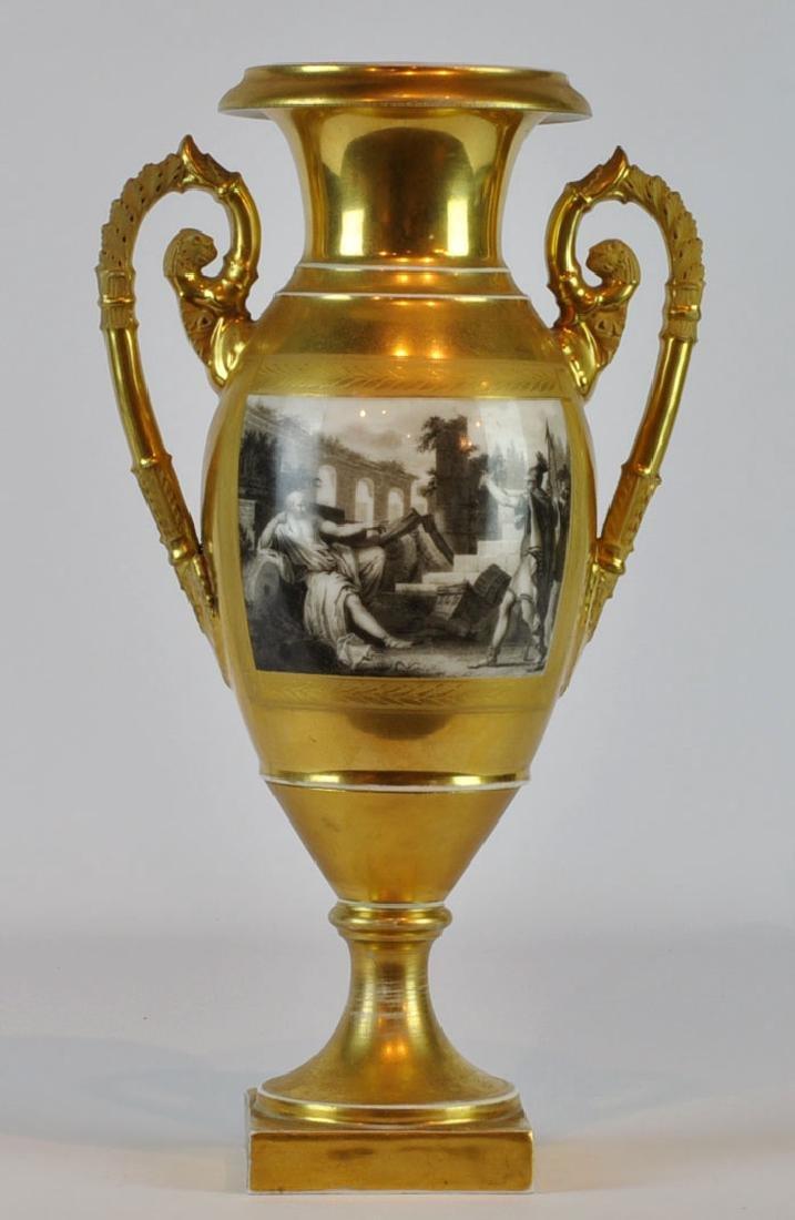 Old Paris Style Porcelain Urn, 19th C.