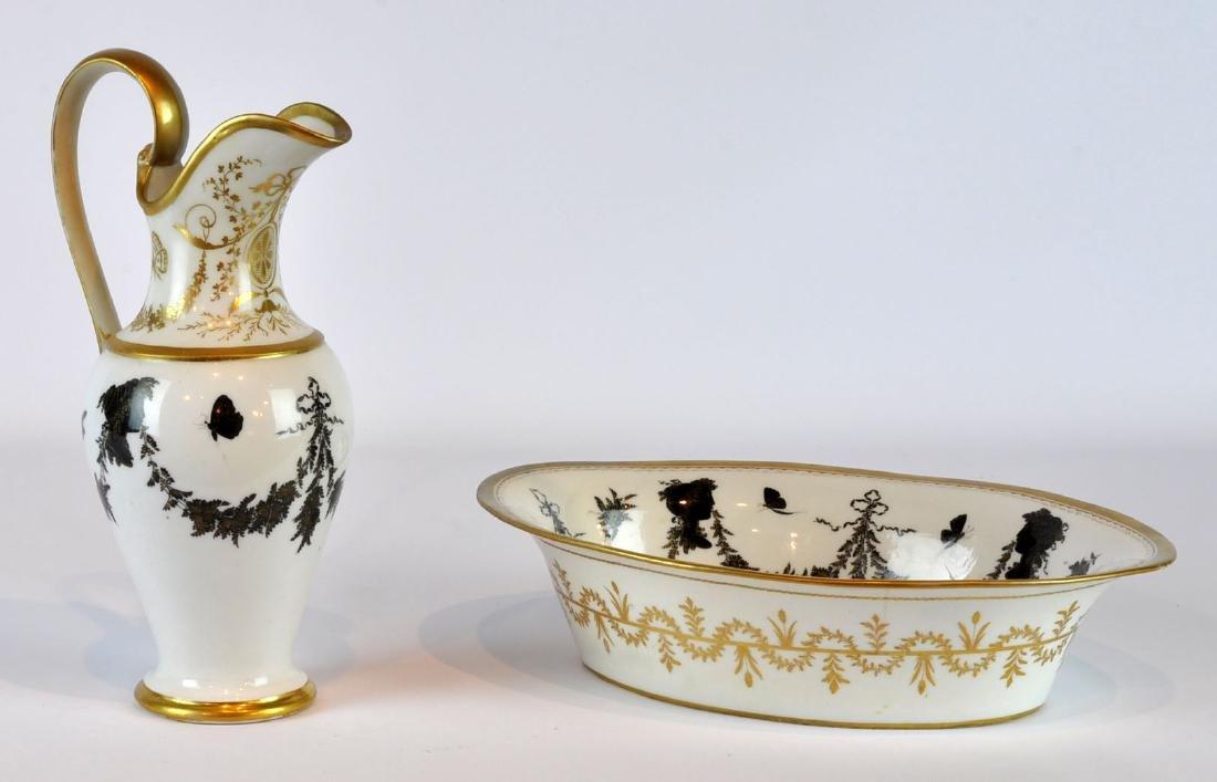 Halley French Porcelain Ewer & Serving Dish