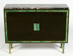 Pepe Mendoza Cabinet, Marble Top W/ Inlays