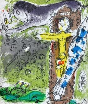 "Marc Chagall ""le Christ A L'horlage"" 1957"