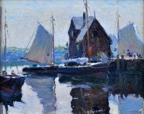 "Anthony Thieme ""morning In Rockport"" O/b"