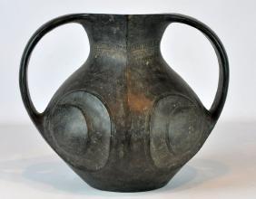 Chinese Pottery Amphora Jar, Han Dynasty Coa
