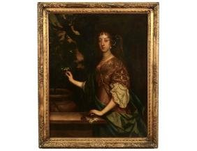Large O/c Portrait In The Manner Of Sir Peter Lely