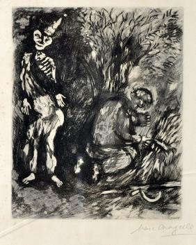 Marc Chagall Etching From Fables Fontaine