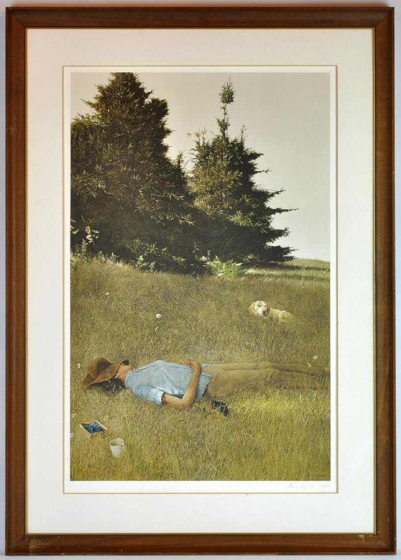 """Andrew Wyeth Collotype """"Distant Thunder"""""""