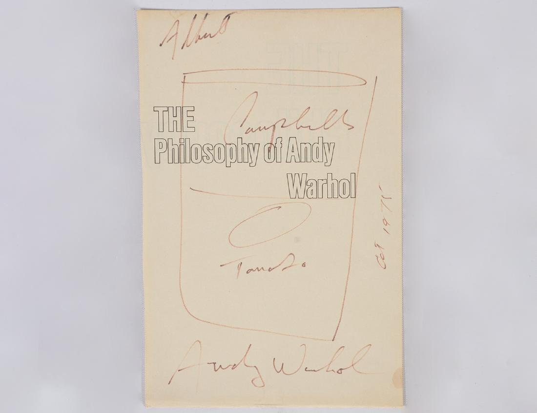 Andy Warhol Signed Book's Cover Page