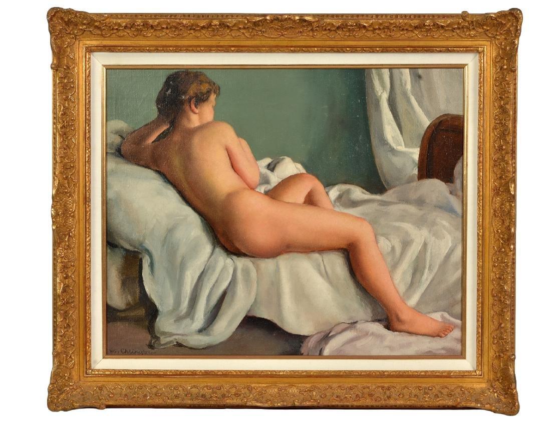 """Maurice Ambrose Ehlinger """"Jeune Fille"""" O/C"""