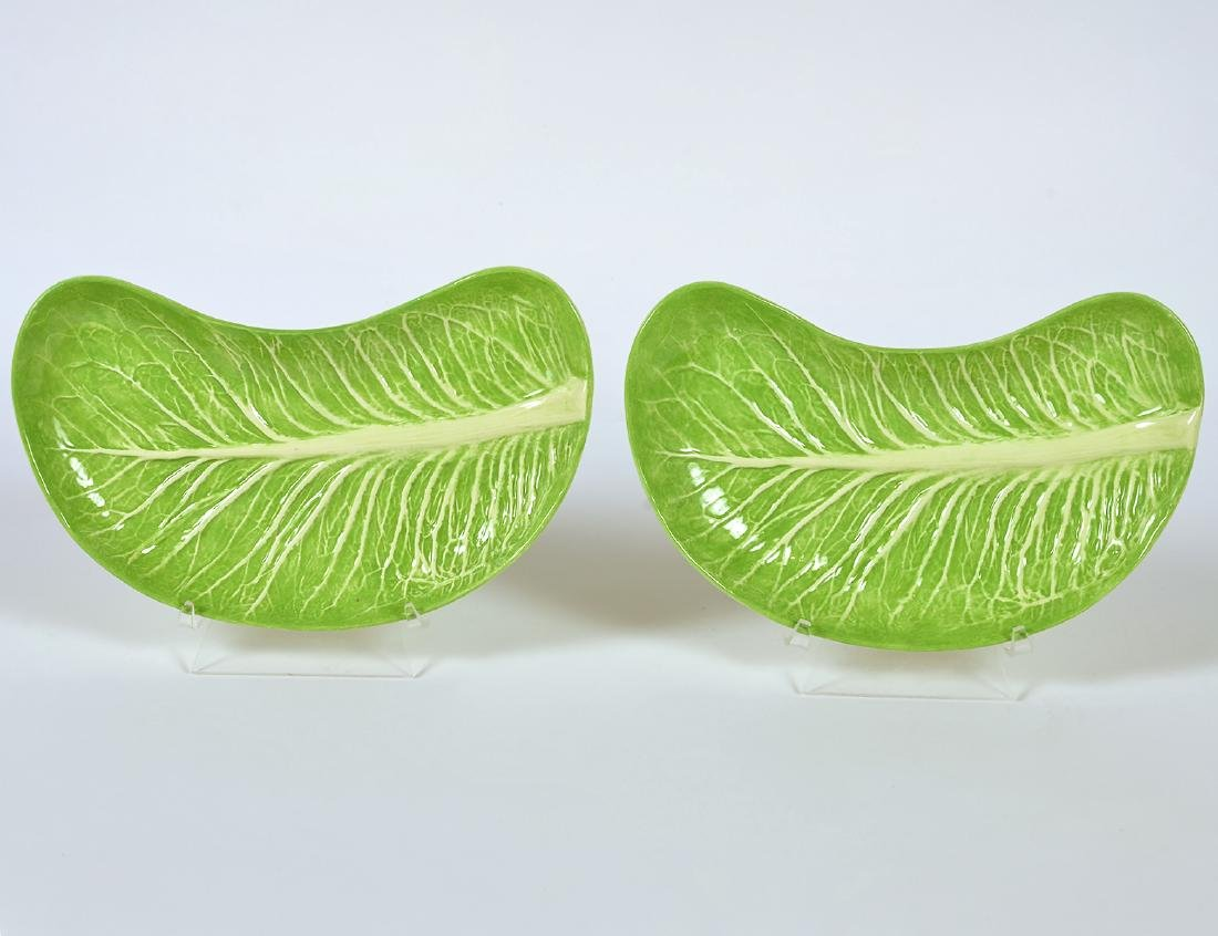 Pair (2) Dodie Thayer Lettuce Ware Crescent Plates