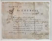 Benjamin Franklin Signed Document w/ COA