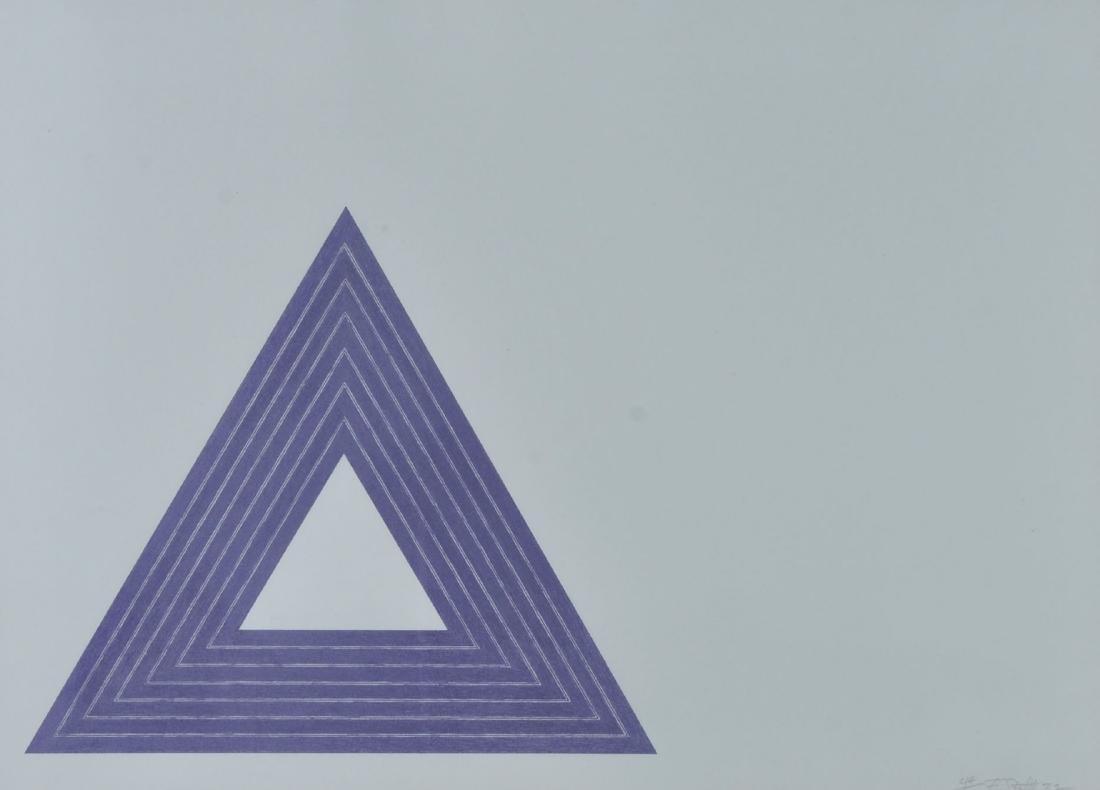 Frank Stella Lithograph Purple Series