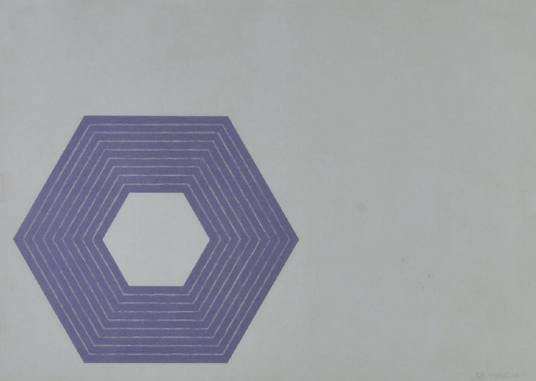 Frank Stella Lithograph Purple Series