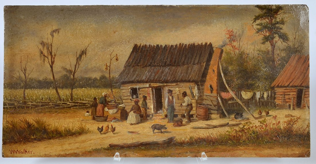 "William Aiken Walker ""Cabin Scene"" O/B"