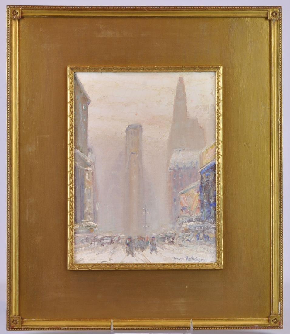 "Johann Berthelsen ""Winter in Times Square"" O/C"