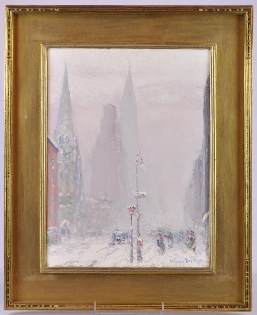 """Johann Berthelsen """"View of Fifth Ave"""" O/C"""
