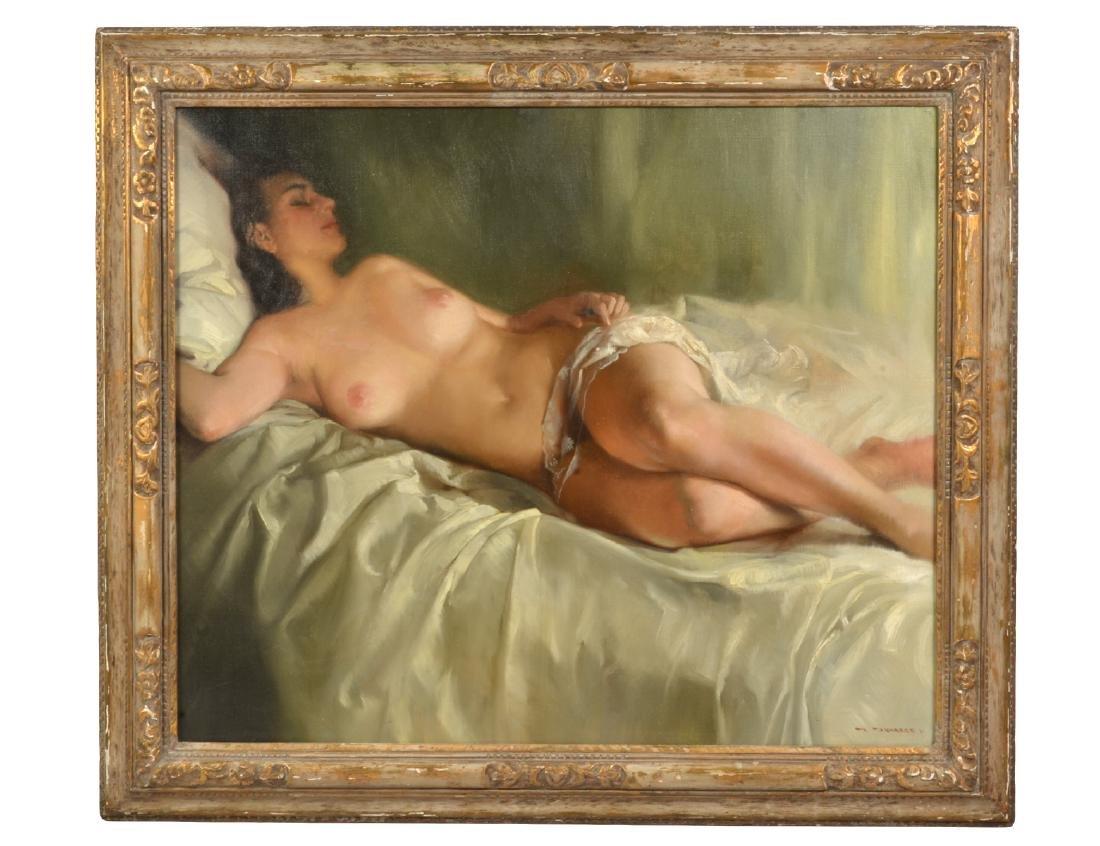 "Stephen Juharos ""Nude on Satin"" O/C"