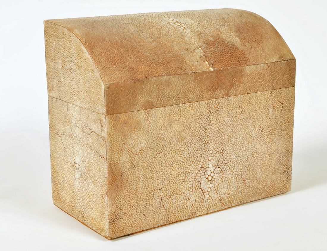 Karl Springer Style Shagreen Wrapped Wood Box