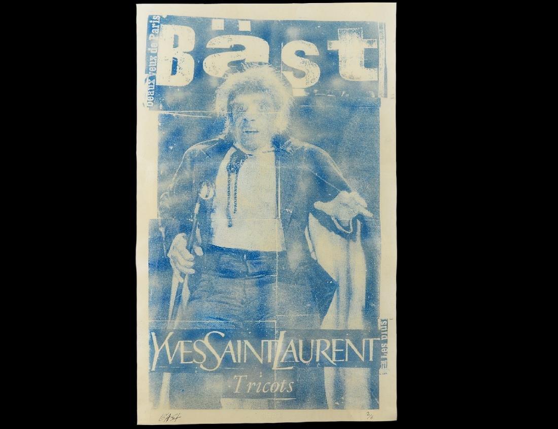 """Bast """"YSL"""" Sand & Ink on Paper"""