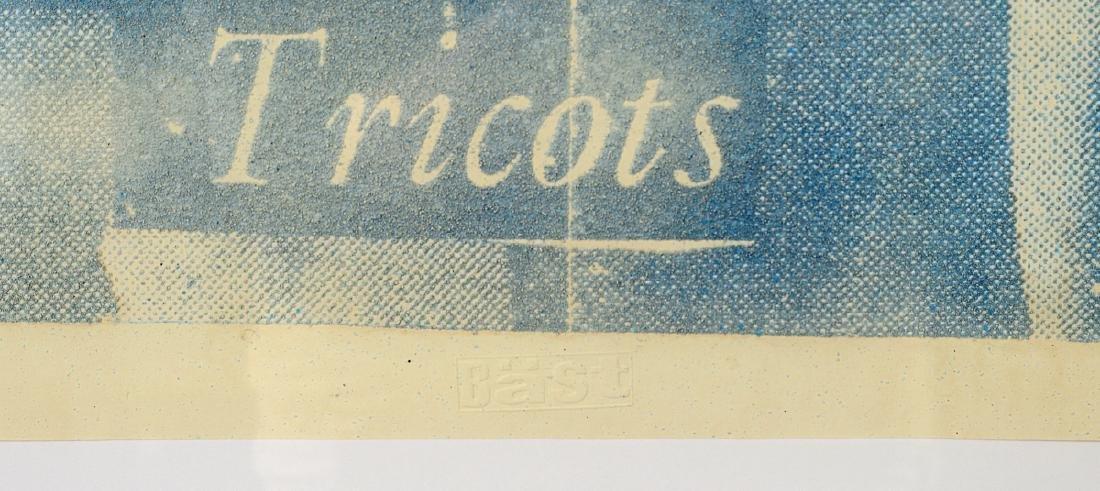 """Bast """"YSL"""" Sand & Ink on Paper - 3"""