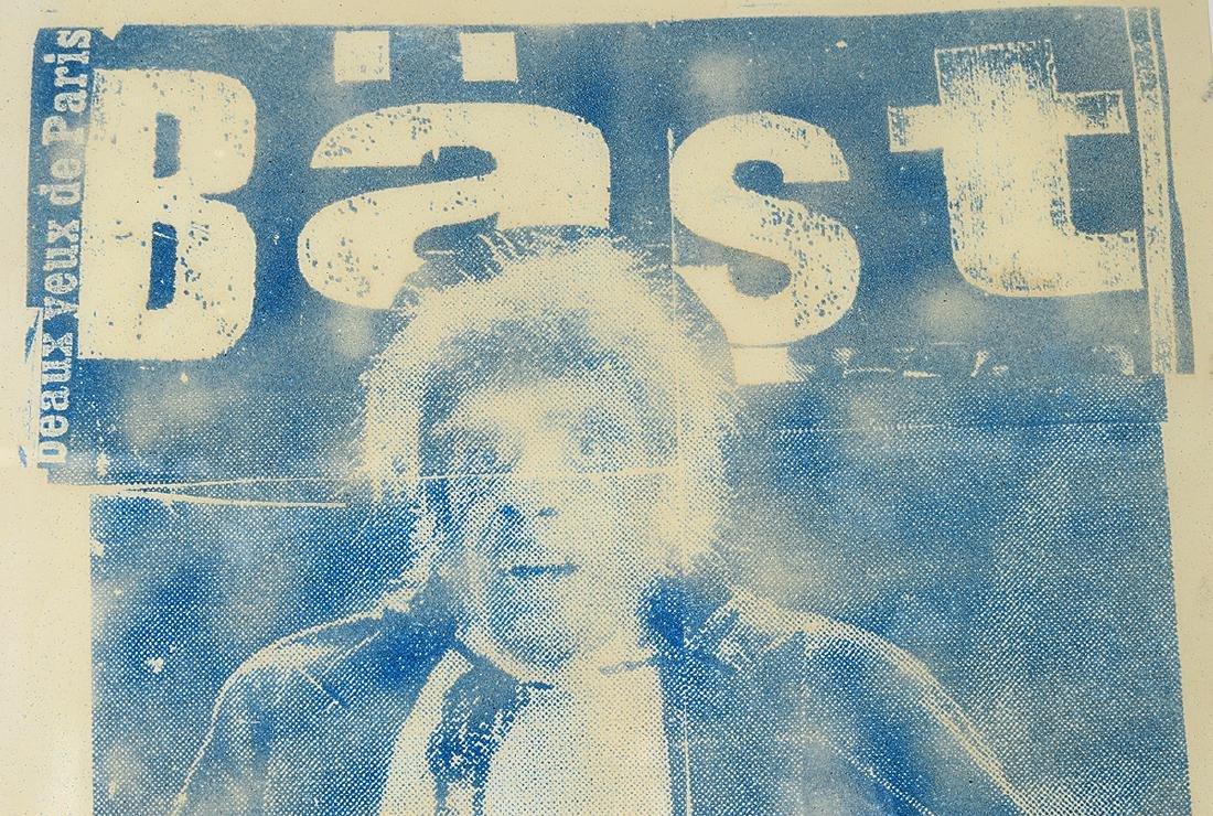 """Bast """"YSL"""" Sand & Ink on Paper - 5"""
