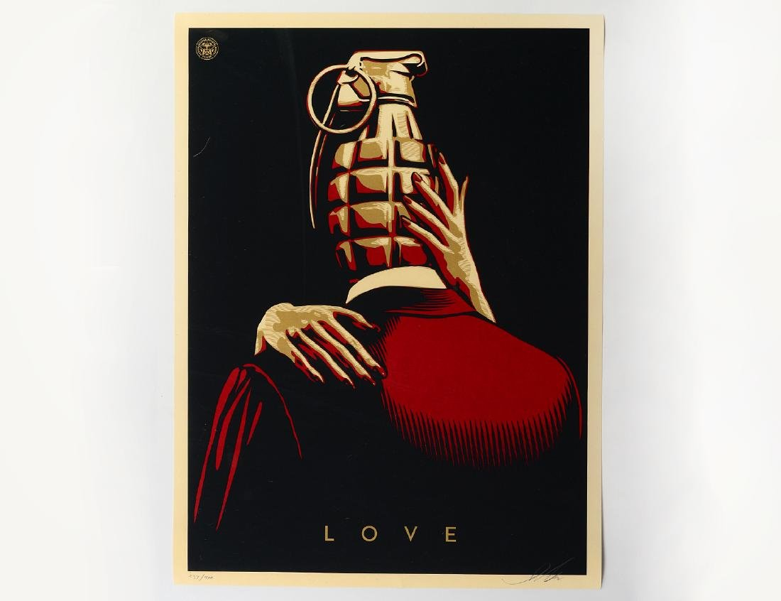 "Shepard Fairey ""Love Is The Drug"" Screen Print"