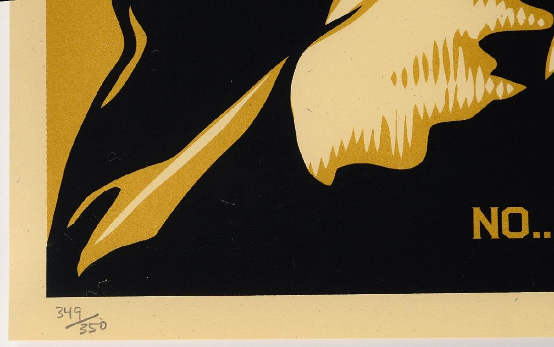 "Shepard Fairey ""No, I'm Vegetarian"" Screen Print - 3"