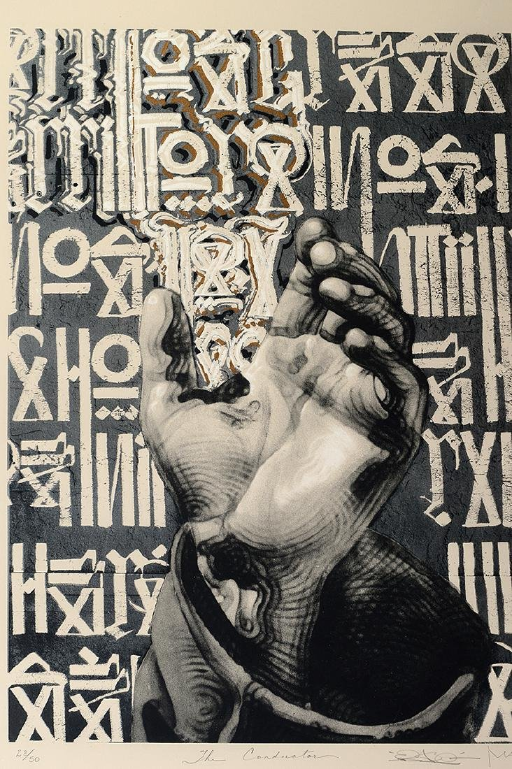 "Retna & El Mac ""The Conductor"" Screen Print - 2"