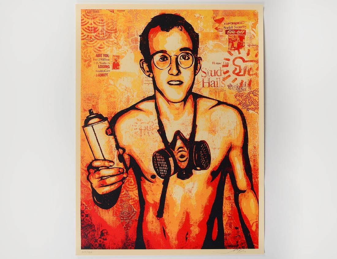 "Shepard Fairey ""Keith Haring"" Screen Print"