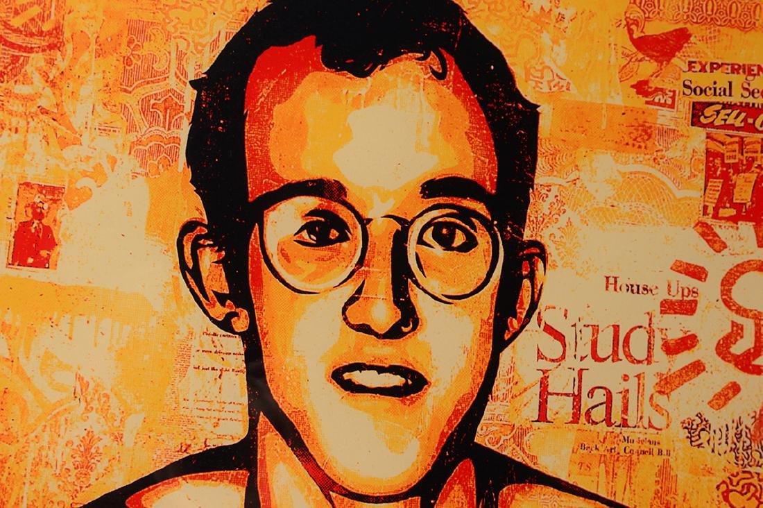 "Shepard Fairey ""Keith Haring"" Screen Print - 4"